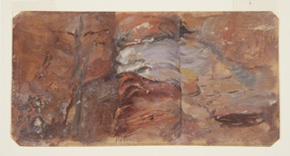 Drawing, Study of Rocks, Petra