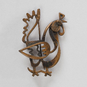 Brooch in the shape of a rooster