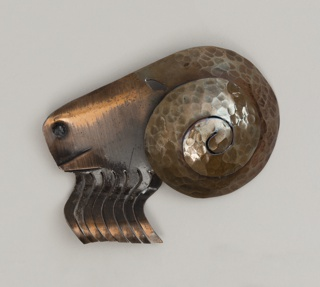 Brooch in the shape of a ram's head