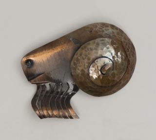 Brooch in the shape of a ram's head