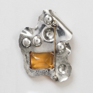 Brooch with biomorphic shape