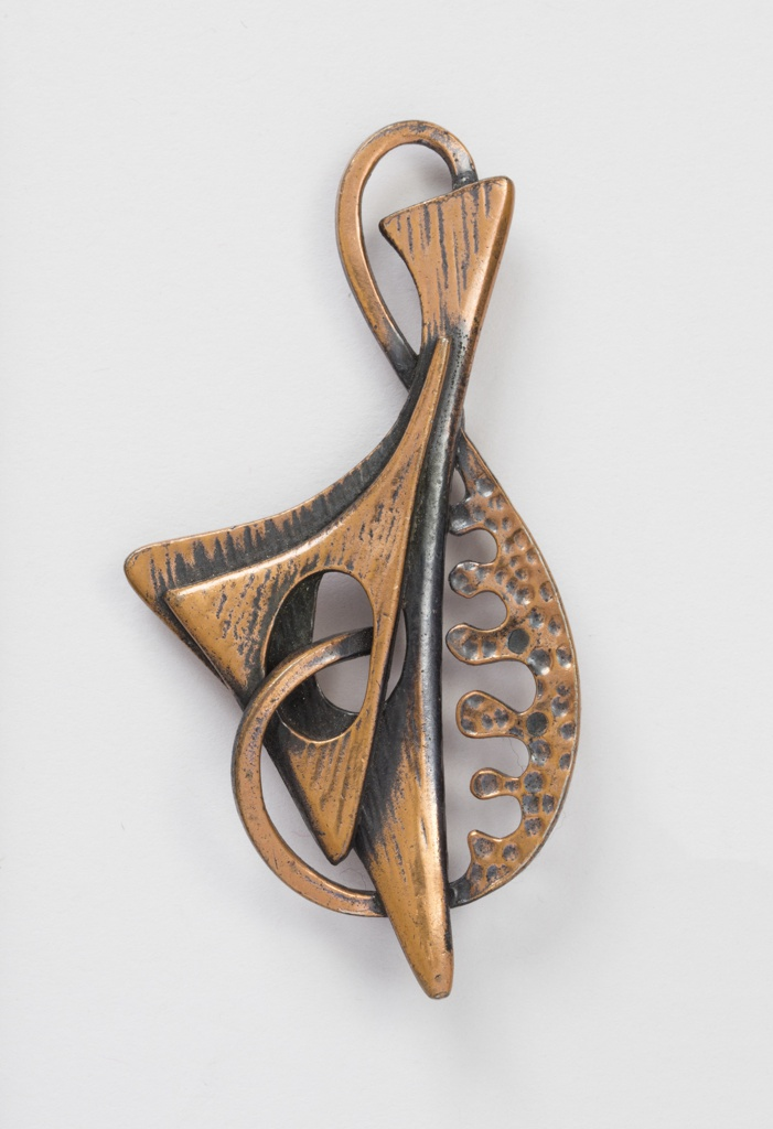 Brooch in the shape of abstracted organic shapes