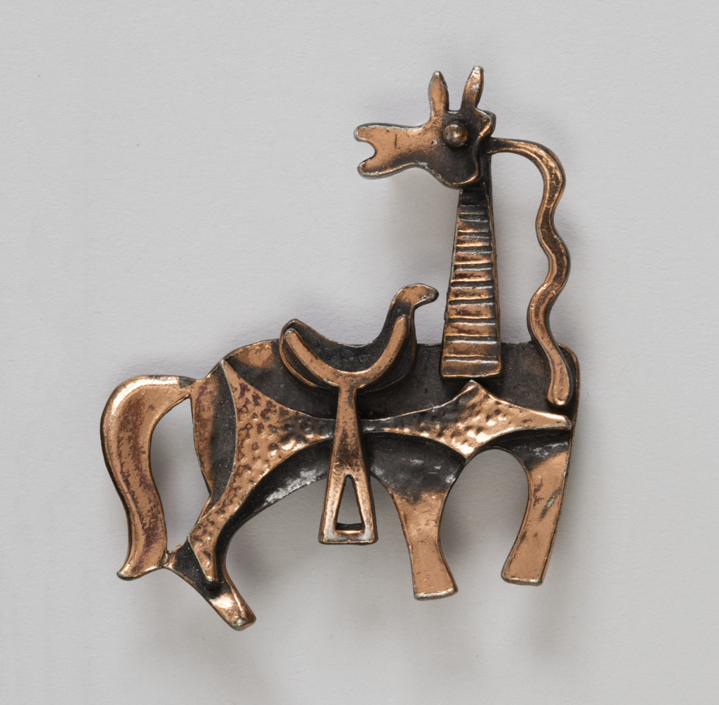 Brooch in the shape of a horse