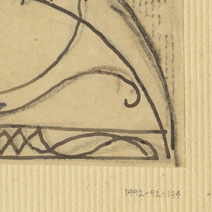 Design for the top of a gate to be executed in iron, the decoration made up of abstract ornamental designs.