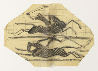 Drawing, Two Polo Players, n.d.