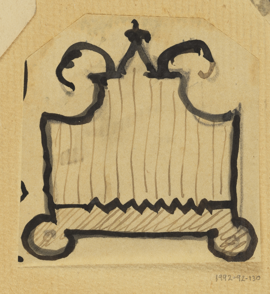 Design for a firescreen with linear pattern.