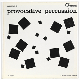 Record Cover, Provocative Percussion, 1959