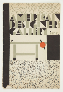 Catalogue, American Designers' Gallery, 1928