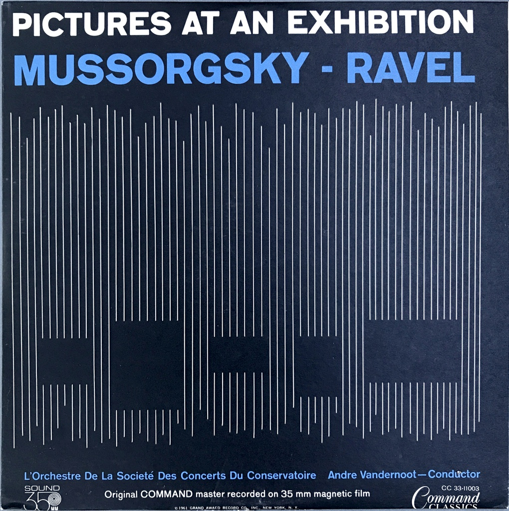 Album Cover, Pictures at an Exhibition: Mussorgsky - Ravel, 1961
