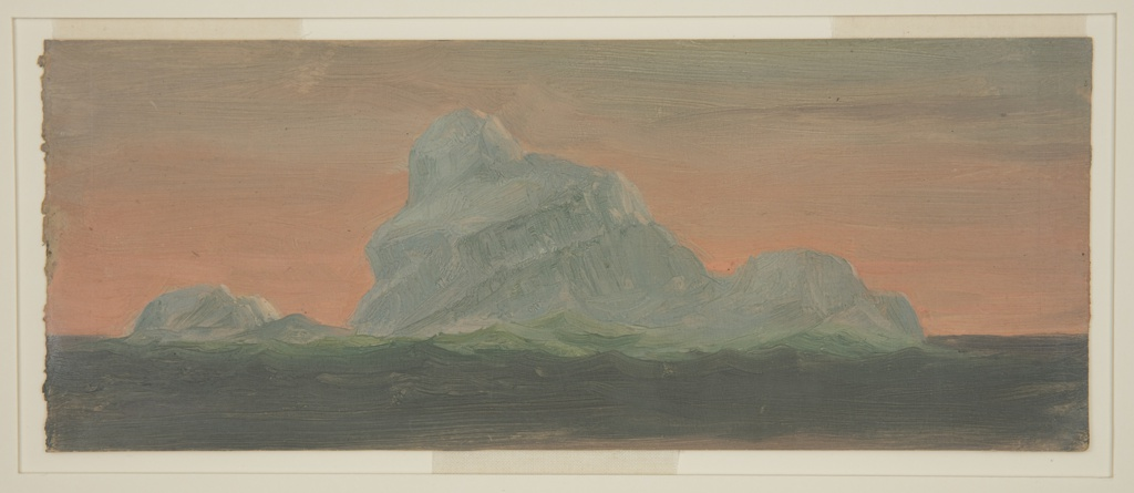 Drawing, Iceberg Against Evening Sky