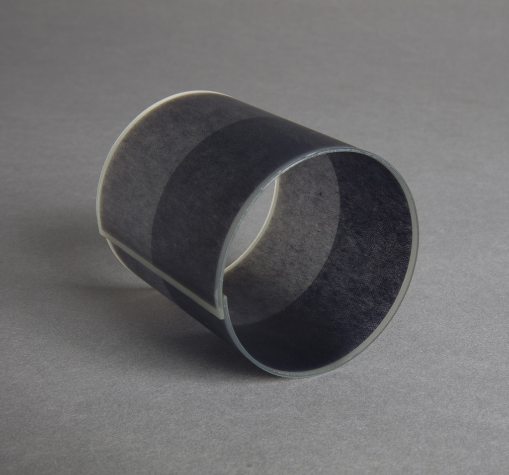 Cuff bracelet  in tones of gray.