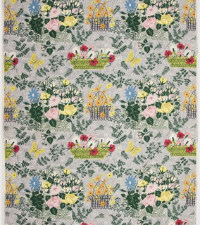 "Yard goods; a Riverdale Fabric, ""Summer Symphony"" designed by Robert Schneeberg of Associated American Artists, 1952."