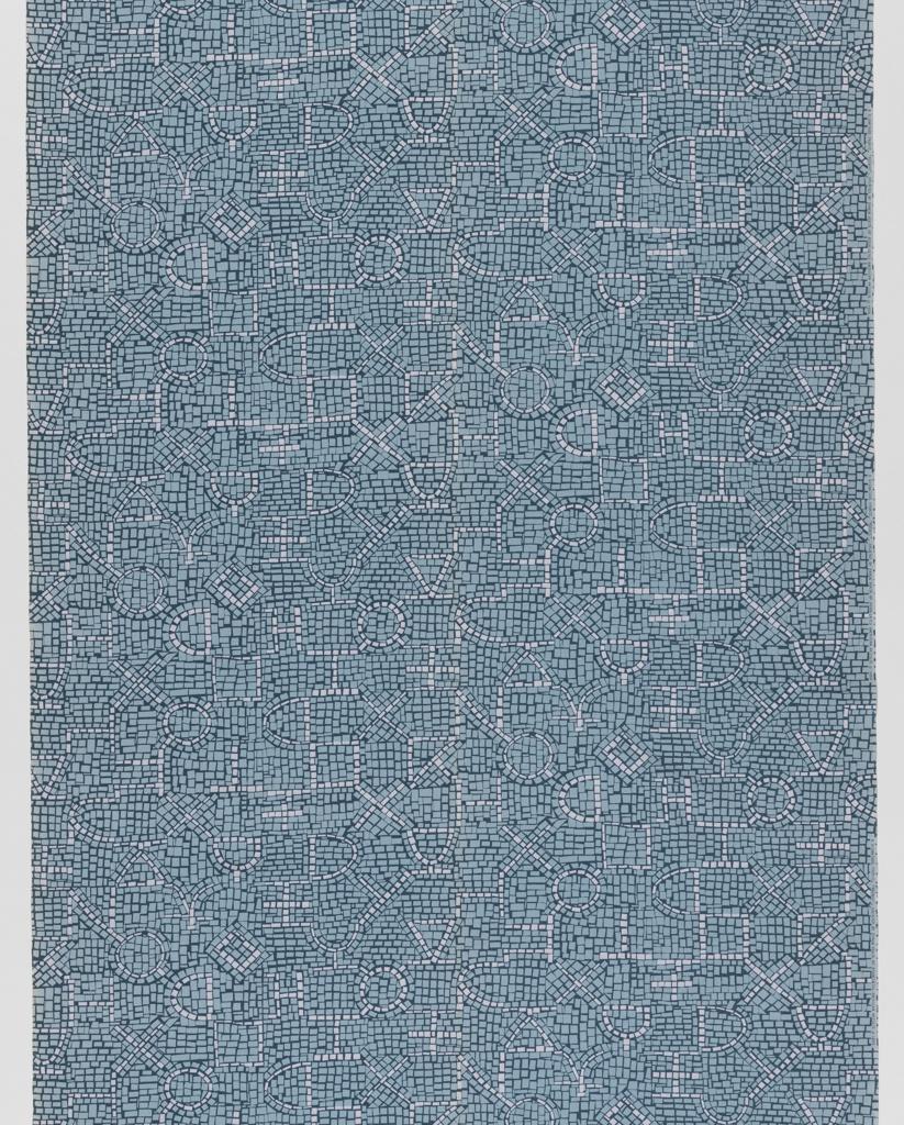 "Yard goods; a Signature Fabric, ""Mosaic"" designed by Ramon Prats of Associated American Artists, 1954."