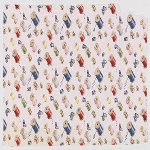 """Yard goods; a Signature Fabric, """"Thimbles and Thread"""" designed by Ken Davies of Associated American Artists, mid-late 1950s."""