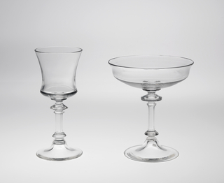 """Mouth-blown crystal sherry glass, cut and polished in the """"Greek"""" style."""