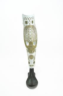 Prosthetic Leg Cover, Baller, ca. 2011