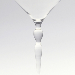 "Thinnest mouth-blown crystal (""Muslin glass"") sherry glass."