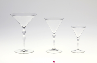 """Thinnest mouth-blown crystal (""""Muslin glass"""") wine glass."""