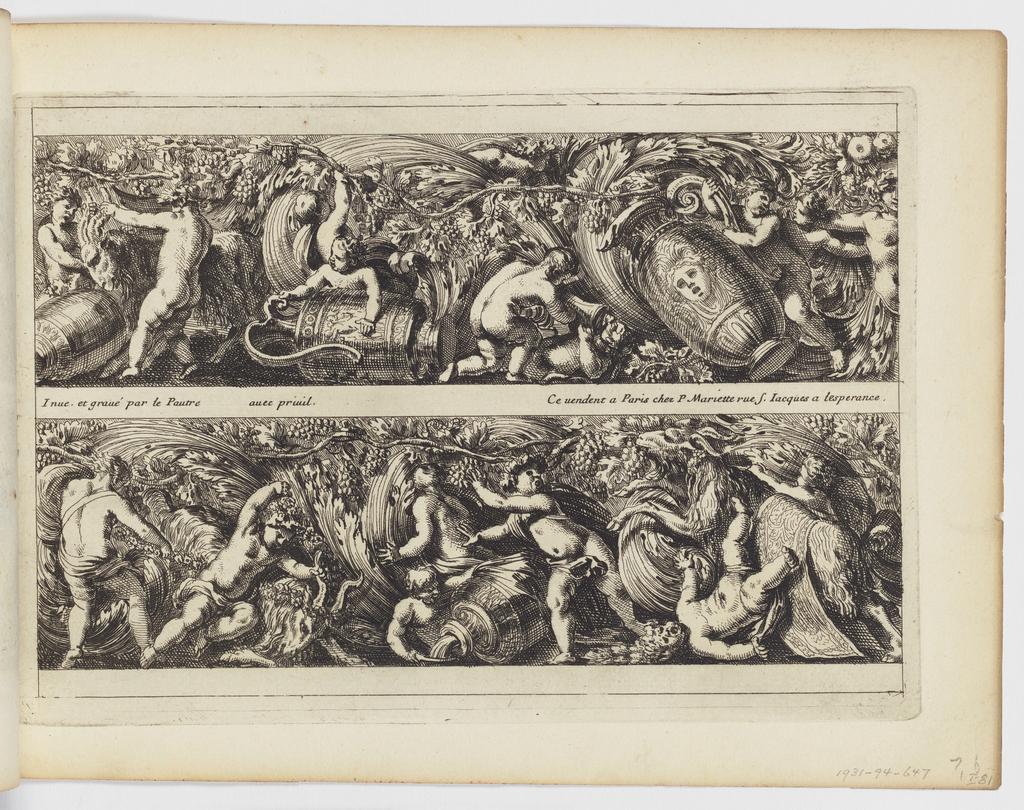 """Print, Plate from """"Frises, feuillages ou tritons marins, à la romaine"""""""