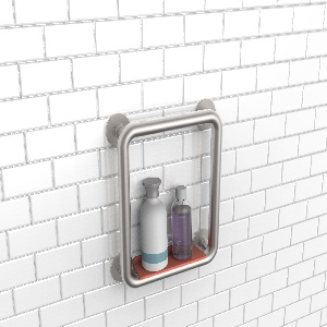 Prototype, Shower Trellis Grab Bar with Shelf, Sprayer Holder, and Hook, 2016