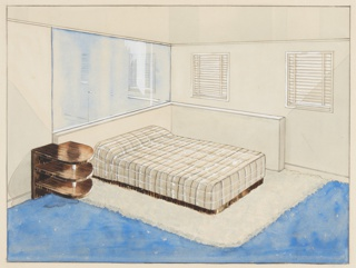 Drawing, Design for Bedroom