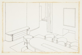 Drawing, Design for Dining Room or Board Room