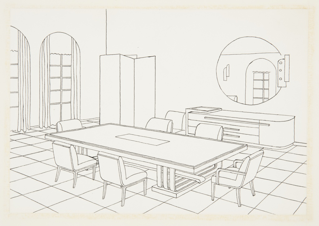 Drawing, Design for Dining Room, Abby Aldrich Rockefeller Milton Apartment, New York, NY