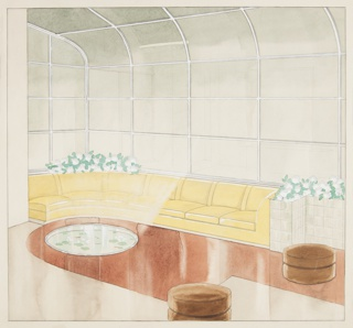 Drawing, Design for Sunroom, Leigh B. Block Apartment, 3100 North Sheridan Road, Chicago, IL