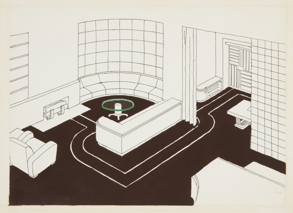Drawing, Design for Living Room, George C. and Eleanor Hutton Rand Apartment, 46 Washington Mews, New York, NY