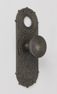 Doorplate (USA), ca. 1895