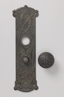 Doorplate With Knob, ca. 1895