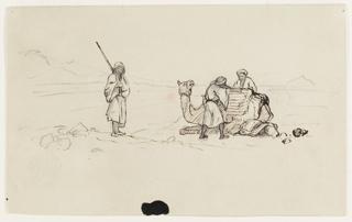 Drawing, Charging a Dromedary
