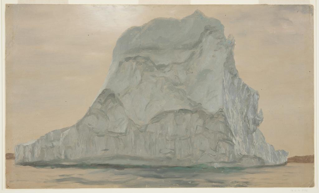 Drawing, Gray Iceberg
