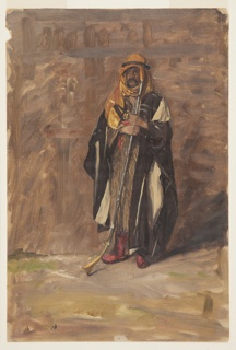 Drawing, Study of a Standing Bedouin