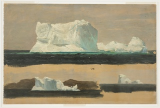 Drawing, Floating Icebergs