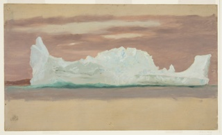 Drawing, Floating Iceberg Under Cloudy Skies, Newfoundland
