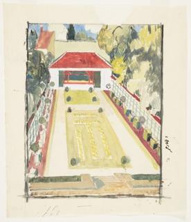 Drawing, Design for a Gazebo and Terrace Garden