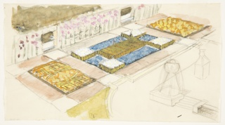 Drawing, Design for a Garden with Geometric Parterres