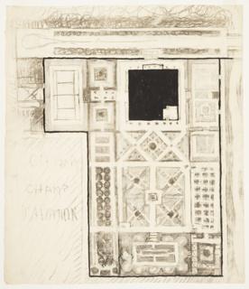 Drawing, Le Jardin de L'Aviateur (Garden of an Aviator)
