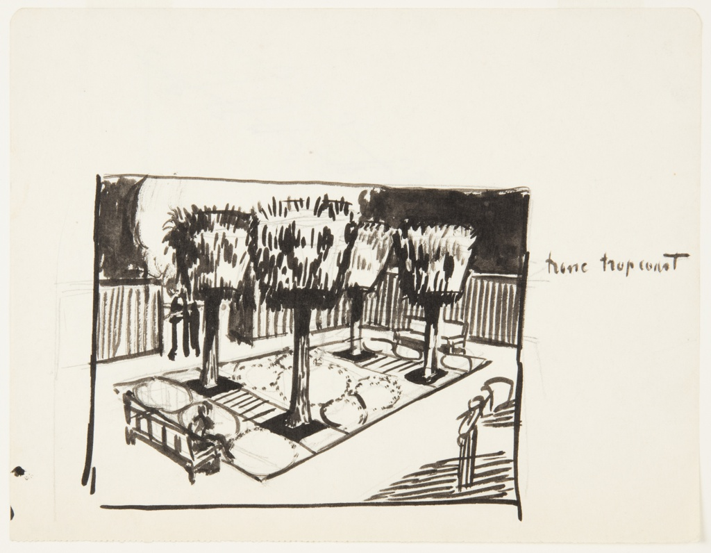 Drawing, An Enclosed Garden
