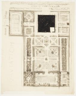 Drawing, Le Jardin de L'Aviator (Ground Plan for an Aviator's Garden)