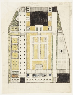 Drawing, Ground Plan of a Formal Garden