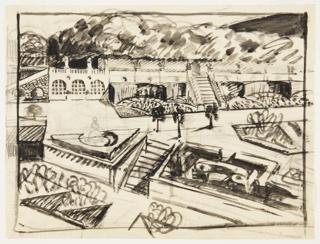 Drawing, Terrasse du Jardin au Soleil (Terrace of the Garden in the Sun)