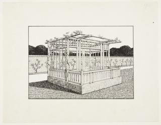 Drawing, Study for Pavillon et Tonnelle (Pavilion and Arbor)