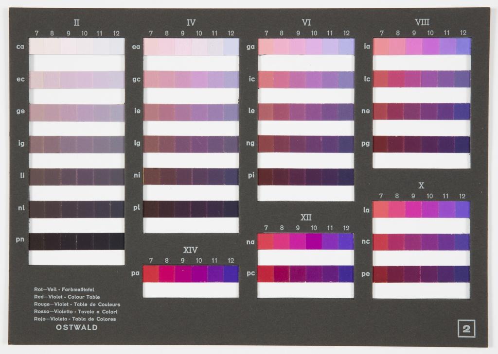 Bookplate, Farbmesstafel (Color Table), 1939