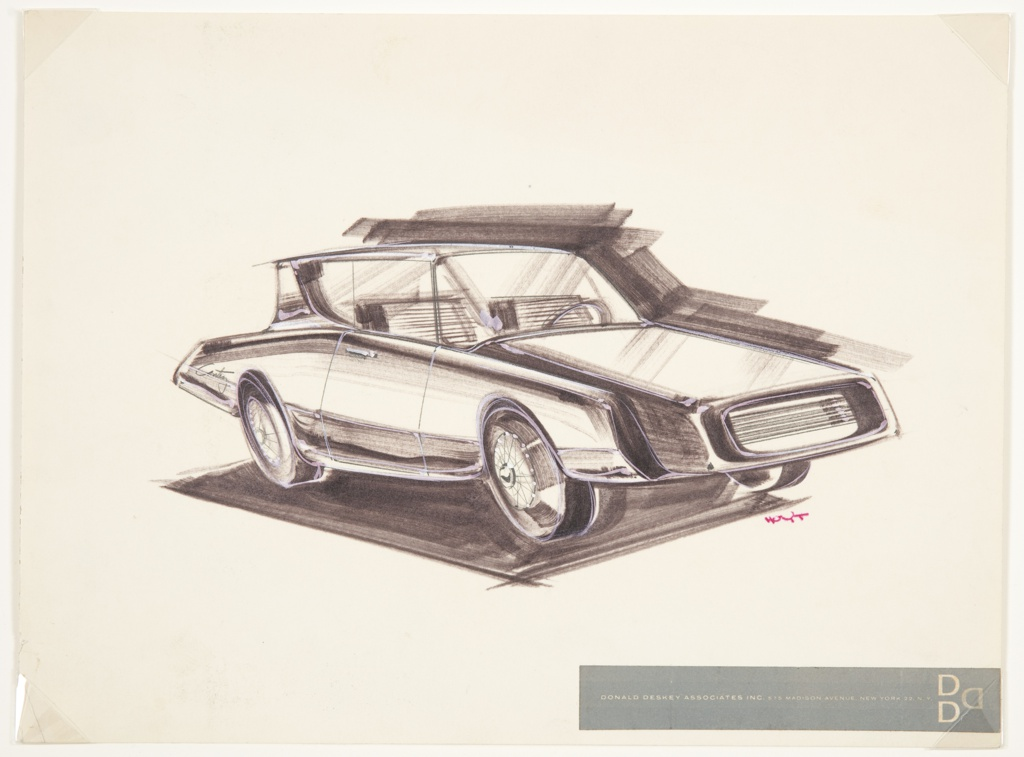 Drawing, Design for Compact Car