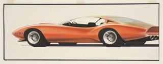 Drawing, Pontiac GTO Concept