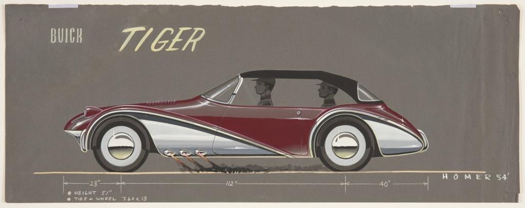 Drawing, Buick Tiger Concept Car