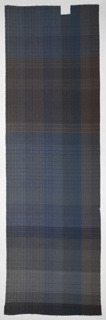 Color blanket woven in plain and twill weave in a variety of soft gray, brown, and pastel colors.