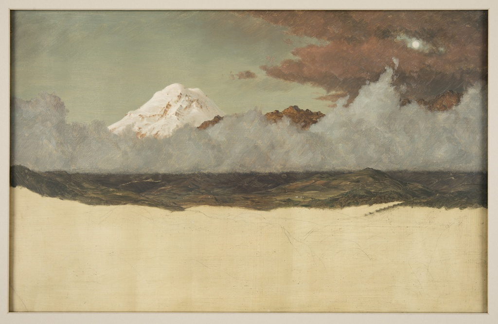 Drawing, Mount Chimborazo through Rising Mist and Clouds